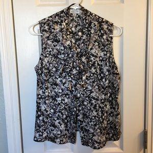 Tahari sleeveless blouse w/ ruffles